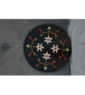 Black Round Designer Table Top