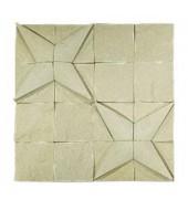 White Striking Natural Stone Texture Mosaic