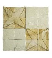 Yellow And White Striking Natural Stone Texture Mosaic