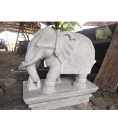 White Marble Antique Big Elephant Statue