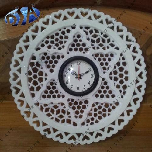 Antique White Marble Frame Clock