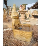 Animal Sculpture Yellow Sandstone Fountains