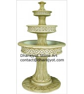Carved Tiered Fountains Outdoor