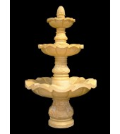 Carved Yellow Sandstone Outdoor Tiered Fountains