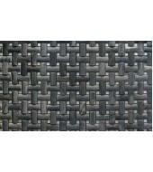 Black Striated Natural Stone Mosaic