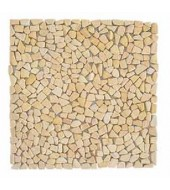 Light Brown Shards Of Natural Stone Mosaic
