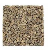 Dark Brown Shards Of Natural Stone Mosaic
