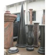 Black Marble Pillar