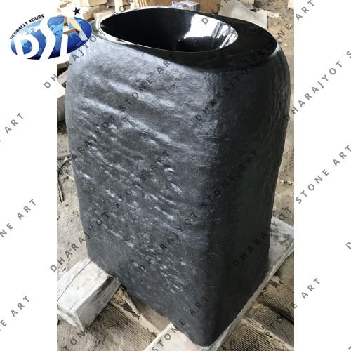 Black Granite Antique Standing Washbasin