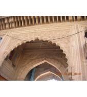 Antique Designed Pink Sandstone Arch