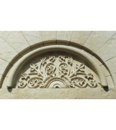 White Stone Antique Carved Arch