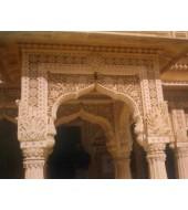 Pink Sandstone Antique Design Arch