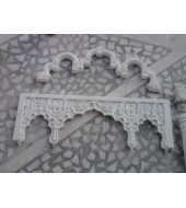 White Marble Antique Carved Arch