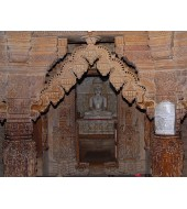 Red Sandstone Antique Carved Arch