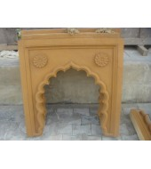 Yellow Sandstone Simple Carved Arch