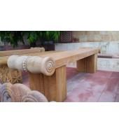Carved Sandstone Backless Bench