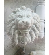 White Marble Lion Face