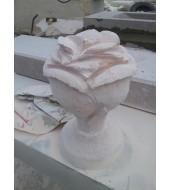Pink Flower Sandstone Finials