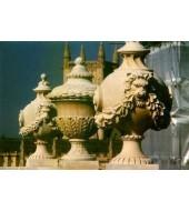 Carved Sandstone Finials