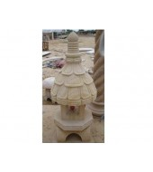 Carved Sandstone Post Finials