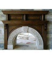 Antique Granite Fireplace Mantels