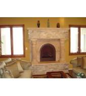 Antique Limestone Fireplace Mantels