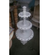 Antique White Marble Fountain