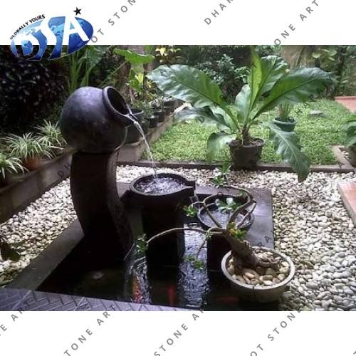 Brown Bowl Sandstone Fountain