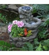 Antique Grey Garden Fountain