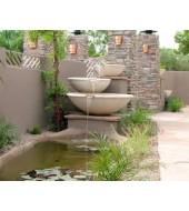 Outdoor Yellow Sandstone Big Fountain
