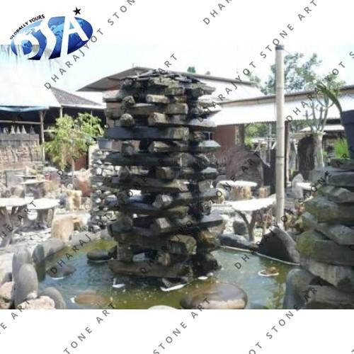 Grey Mix Stone Garden Fountain