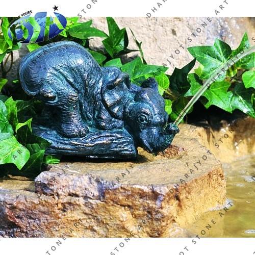 Bidaser Green Semi Carved Fountain