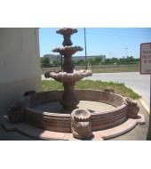 Exterior Decor Three Tier Carved Fountain