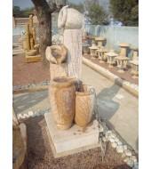 Rainbow Marble Stone Pot Water Fountain