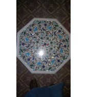 Antique Design White Marble Inlay