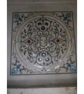Antique Design White Marble Flooring