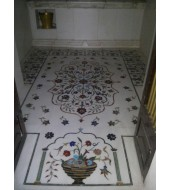 Antique White Marble Inlay