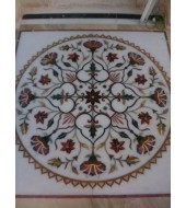 Antique Design Round Carved Inlay