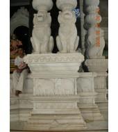 Sandstone Lion Pillar