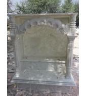Antique Design Pillar And White Polished Marble Mandir