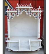 Antique White Marble Temple