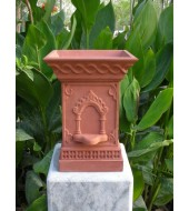 Red Sandstone Antique Carved Tulsikyara