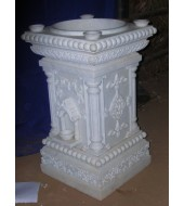 White Marble Antique Design Tulsikyara