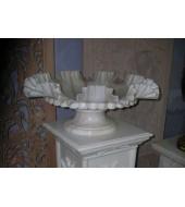 Carved Modern White Marble Vase
