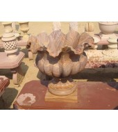 Carved Rainbow Sandstone Vase