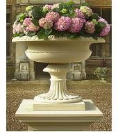 Carved Sandstone Flower Vase