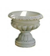 Carved White Marble Flower Vase