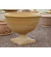 Decorative Sandstone Circular Flower Vase