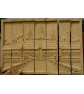 Abstract Carved Sandstone Wall Hanging