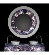 Amethyst Dark Counter Top White Washbasin